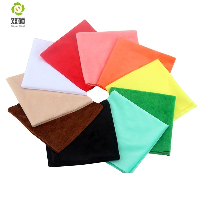 ShuanShuo Super Soft Short Plush Material Super Soft PlushToys Fabric For DIY Finger Toys Handmade Cloth 10pcs/lot 30*30cm(Hong Kong,China)