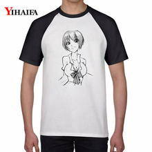 Summer T Shirts Cartoon Girl Print Graphic Tees Shirt Stylish Mens Womens Casual ulzzang Tee Short Sleeve Unisex Tops