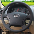 Hand-stitched Black Leather Steering Wheel Cover for for Great Wall Haval Hover H3 H5 Wingle 3 Wingle 5
