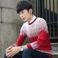 Homens Outono Com Decote Em V longo-cor sólida de mangas compridas camisa primer Magro tops camisola camisolas dos homens estudantes DO204