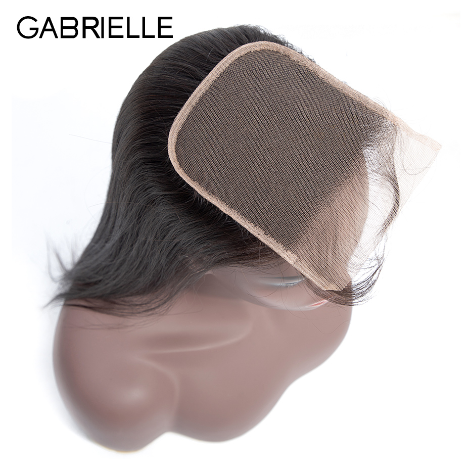 Gabrielle 5x5 Lace Closure Brazilian Straight Remy Hair Natural Color 8-20inch 100% Human Hair Closure Free Shipping