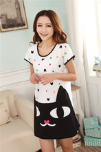 New 2016 Women Loose Nightgowns Sleepshirts Sleepwear Cute Girl's Underwear Nightdress Sleep Lounge Womens Nightwear