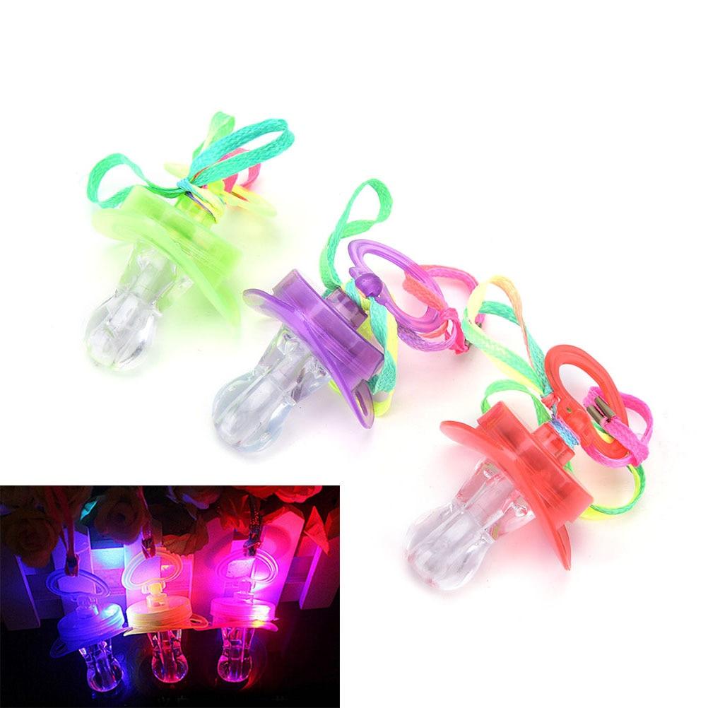 Freundlich 1 StÜck Led Schnuller Pfeife Förderung Glänzende Nippel Party Spielzeug Glow Kinder Spielzeug Geschenk Festliche Dekoration Zubehör