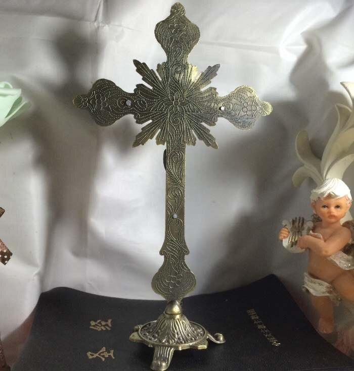 Vente en gros catholique chrétien fournitures maison église religieuse jésus Christ Crucifixion sur la croix saint art statue - 2