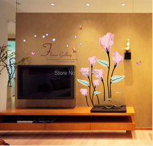 High Quality New 2015 Hot Sale Popular Removable Wall Stickers Calla Wall Stickers For  Home Decor Wall Mural Stickers Free Shipping Gallery