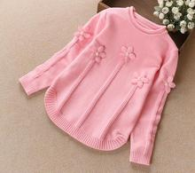 Girls Sweaters Kids Winter Sweater 2016 Children's Clothing Fashion Kids O-neck Pullover Sweaters Basic Cashmere Sweater Girl