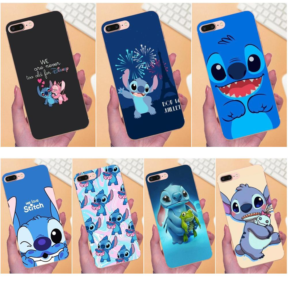 Sincere Cute Cartoon Stich Coque Shell Soft Silicone Tpu Phone Case For Samsung Galaxy S6 S7 Edge S8 S9 Plus Note 9 Note 8 Phone Pouch