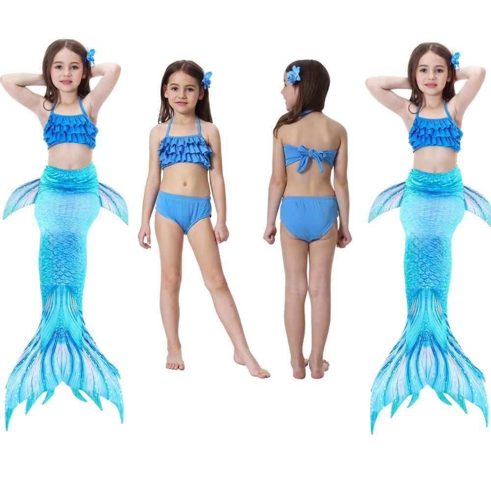 afa785310 ... Sirena traje de baño para niños traje de cola de sirena con aletas traje  niño ropa