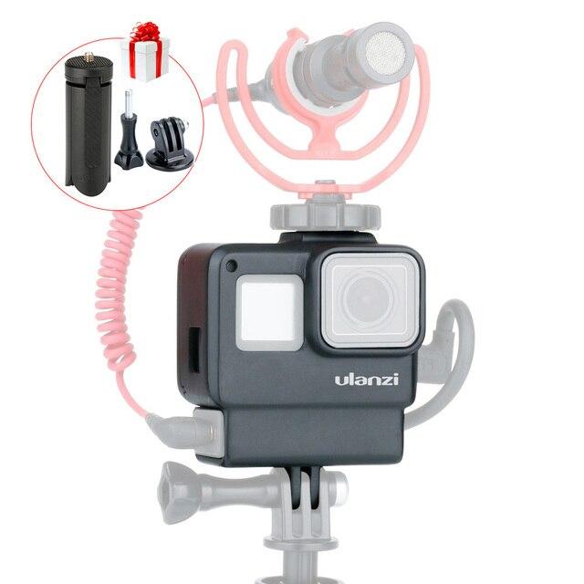 ULANZI V2 V3 移動プロカメラケージ用移動プロ 7 6 5 、アクションカメラ Vlog アクセサリー用とマイクライト