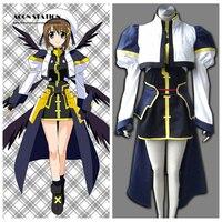 2016 Top Selling Magical Girl Lyrical Nanoha Anime Hayate Yagami Halloween Cosplay Costume