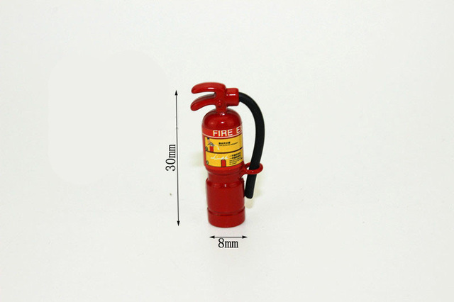 1:6 Scale mini Fire extinguisher Dollhouse Miniature Toy Doll Food ...