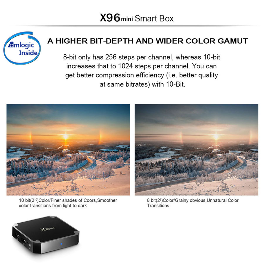 X96 Mini Smart TV BOX Android 7 1 OS 2GB 16GB Amlogic S905W Quad Core  2 4GHz WiFi 4K Set-top Set Top Boxes X 96 X96mini tv-box