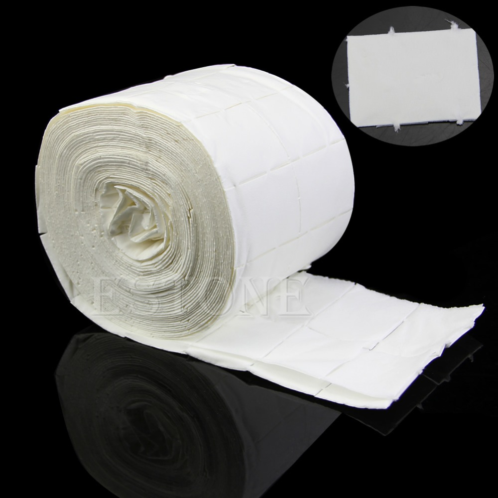 New 500pcs Acrylic Lint Free Roll Care Polish Nail Art Tips Cleaner Wipes Pads Paper Nail Tools