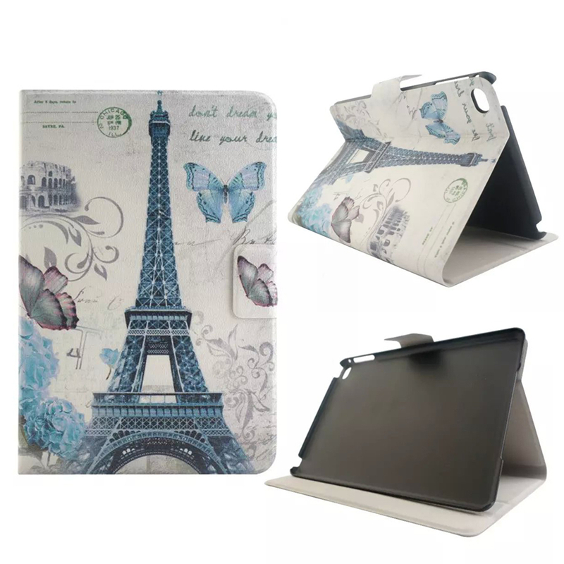 Fashion High Quality PU leather Cartoon Slim Leather Flip Cover Case Stand Shell Housing For iPad Mini 4
