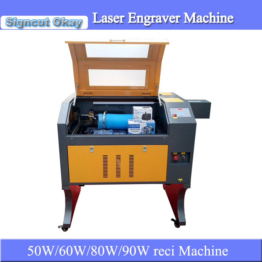 New Model CNC CO2 Laser Engraving Machine Glass Engraver Machine 4060 With Simple Rotary For Glass Bottle Geramic Cup Caving