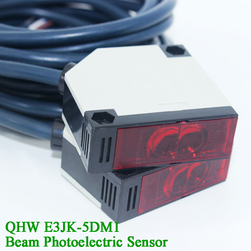 5m Distance DC 12-24V IR Beam Sensor Retroreflective Photoelectric Switch Infrared Relay Photocell Gate/Barrier Opener