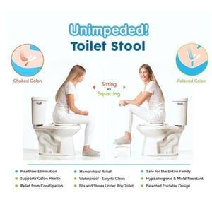 Image 4 - Multi Function Folding Toilet Stool Bathroom Potty Toilet Squat Proper Posture Portable Step for Home Bathroom Drop Shipping