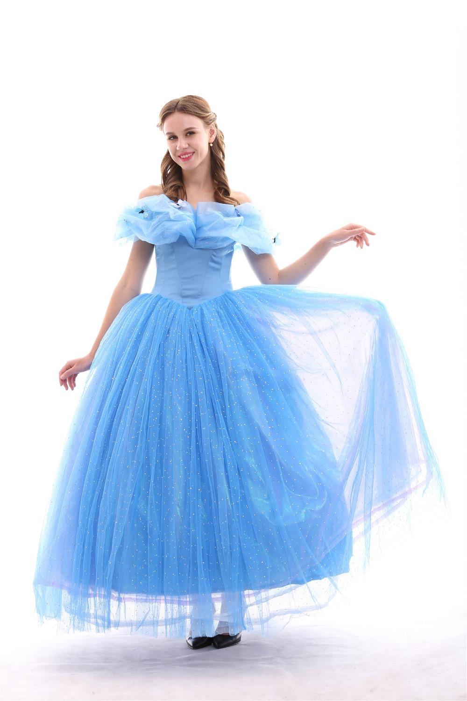 Cinderella princess dress costume adult cinderella wedding for Wedding dress costume for adults