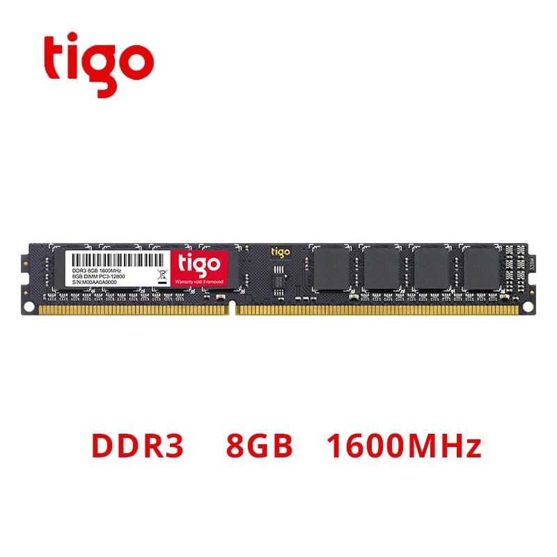 Tigo DDR3 8 GB 1600 MHz RAM haute qualité tout nouveau mémoire DDR 3 DIMM 240PIN pour bureau
