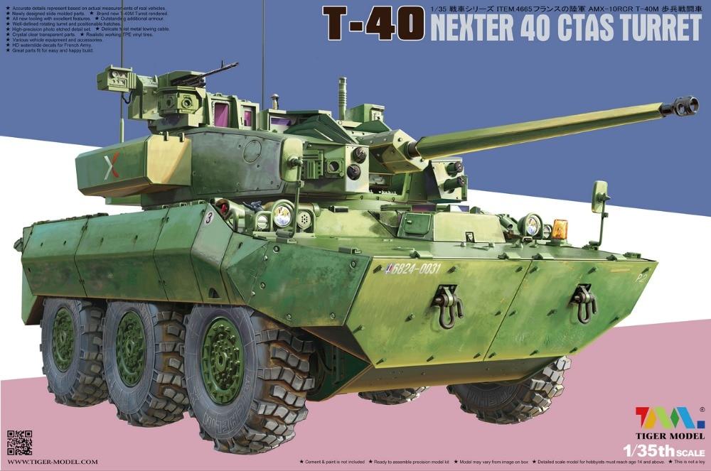 Tiger Model 4607 1//35 AMX-10RCR SEPAR Tank Destroyer