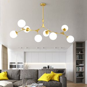 Image 2 - Moderne LED lustre salon lampes suspendues nordique chambre déco luminaires fer art éclairage restaurant lampes suspendues