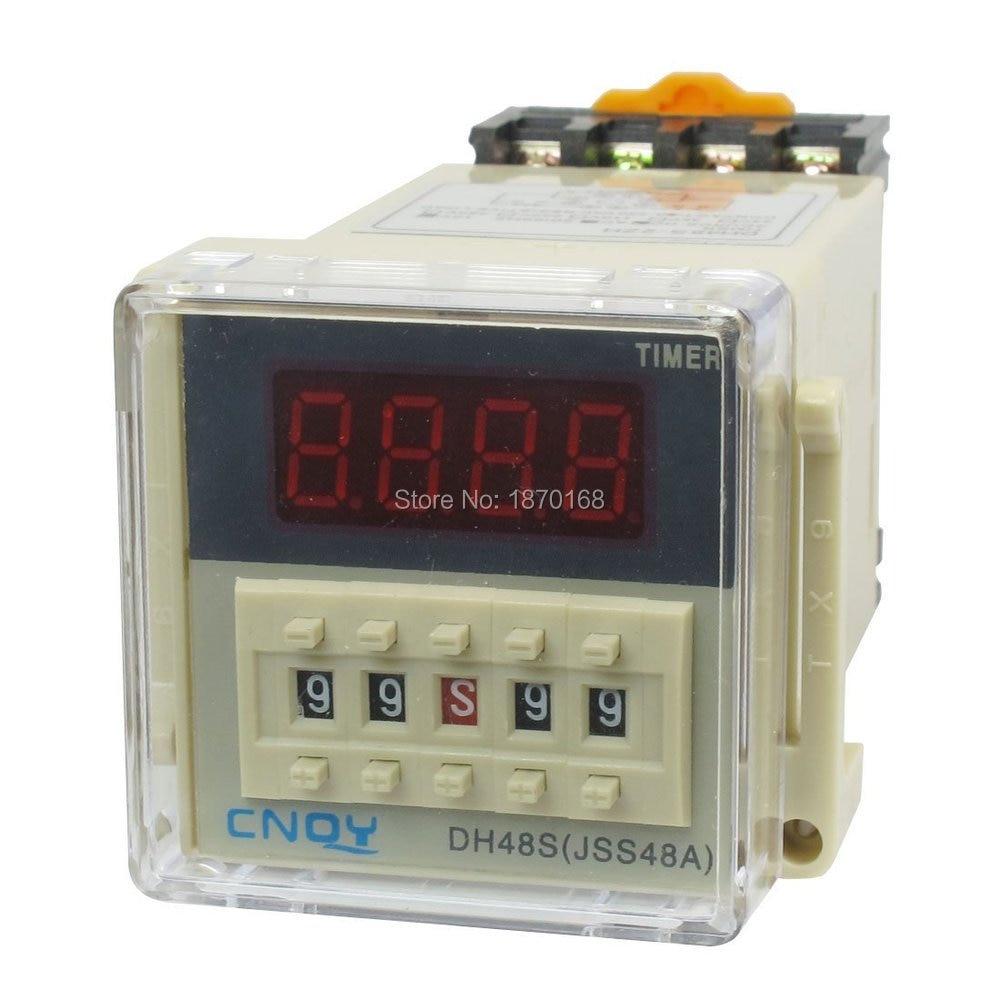 цена на DH48S-s AC / DC12V  SPST 8 P 0.1 S - 99 H Timer Delay DIN rel waktu estafet, DH48S-s 3u soket