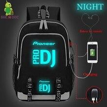 Black Backpacks Canvas Bag Bolsos Para Hombre Mochila Anti Roubo Men Morral Travel Backpack Pioneer Pro Dj Bagpack Usb Charging