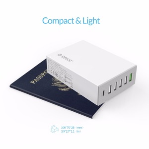 Image 5 - ORICO QC2.0 Desk Charger 6 Ports USB Phone Fast Charger with 3.1A Type c Charging Port for Mobile Phone Tablet