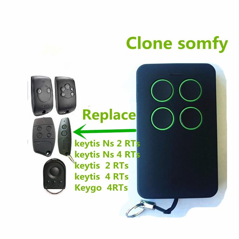 Hot sale SOMFY Keytis NS 2 RTS, Somfy Keytis 4 NS RTS compatible remote control 433,42Mhz rolling code free shipping kicx rts 4 60