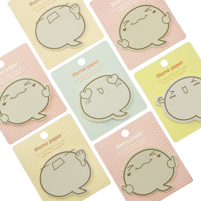 1 st Leuke Grote Gezicht N Times Sticky Notes Memo Pad Papier Sticker Notepad Gift Stationery Escolar Papelaria