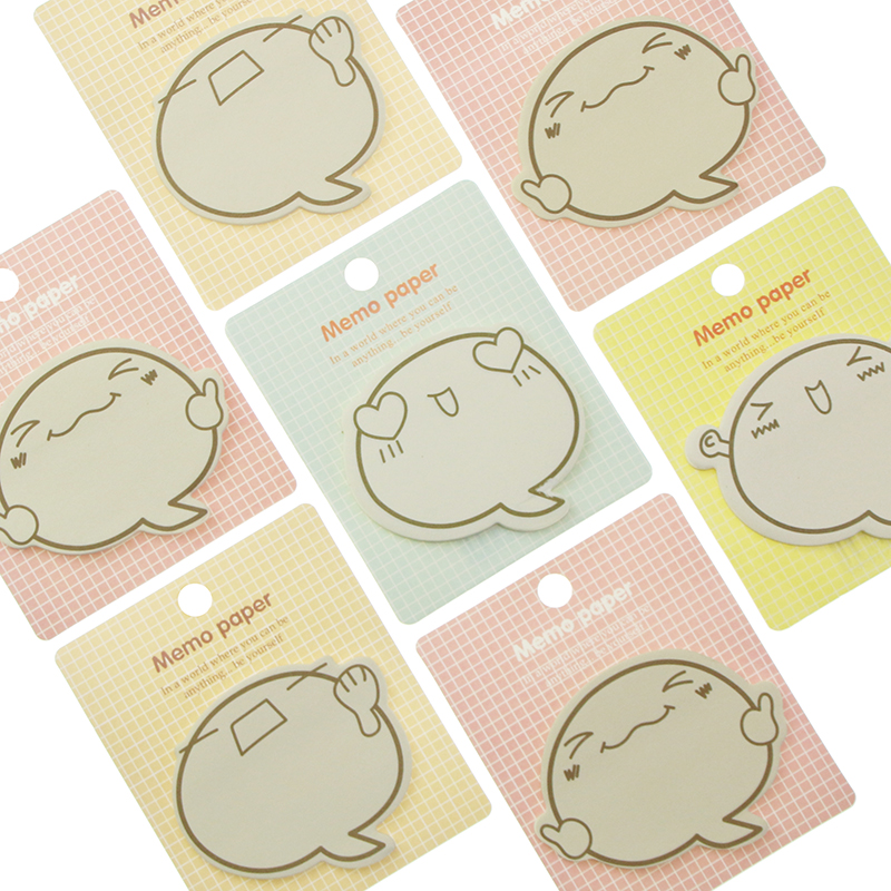 5 PCS Cute Big Face N Times Sticky Notes Memo Pad Paper Sticker Post It Notepad Gift Stationery Escolar Papelaria