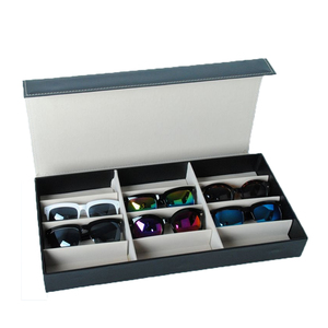 Image 3 - HUNYOO 12 Grid Sunglasses Storage Box Organizer Glasses Display Case Stand Holder Eyewear Eyeglasses Box Sunglasses Case