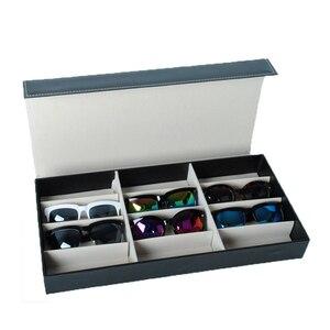 Image 3 - HUNYOO 12 ตารางแว่นตากันแดดจัดเก็บกล่องแว่นตาผู้ถือขาตั้งแว่นตากล่องแว่นตากันแดด