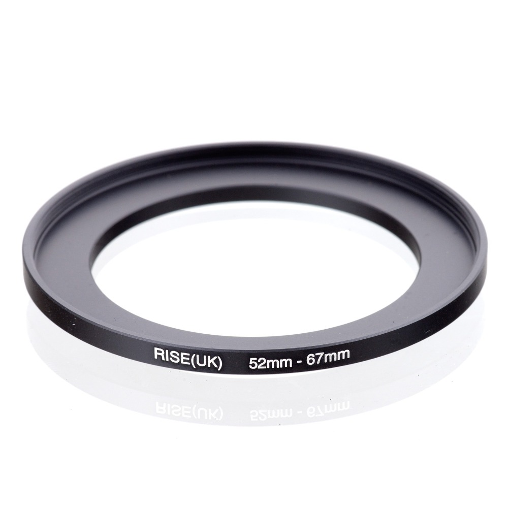 original RISE(UK) 52mm-67mm 52-67mm 52 to 67 Step Up Ring Filter Adapter black free shipping