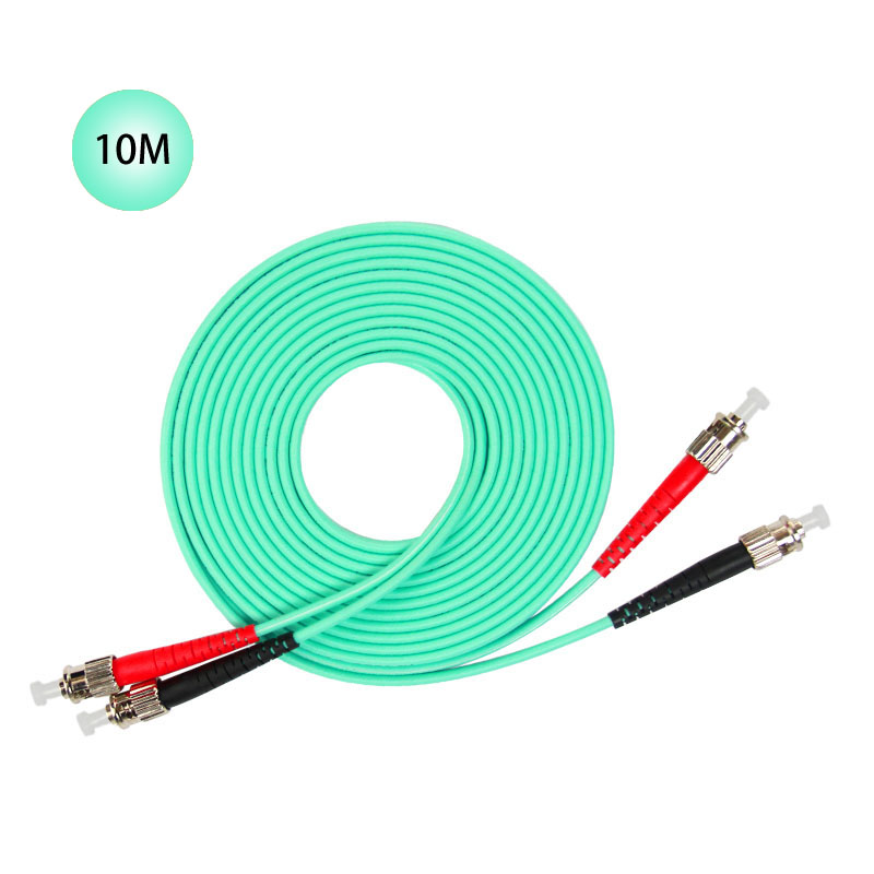 ST to ST 10GB Laser Optimized Multimode Fiber Patch Cable - OM3 - 10 Meter Free Shipping