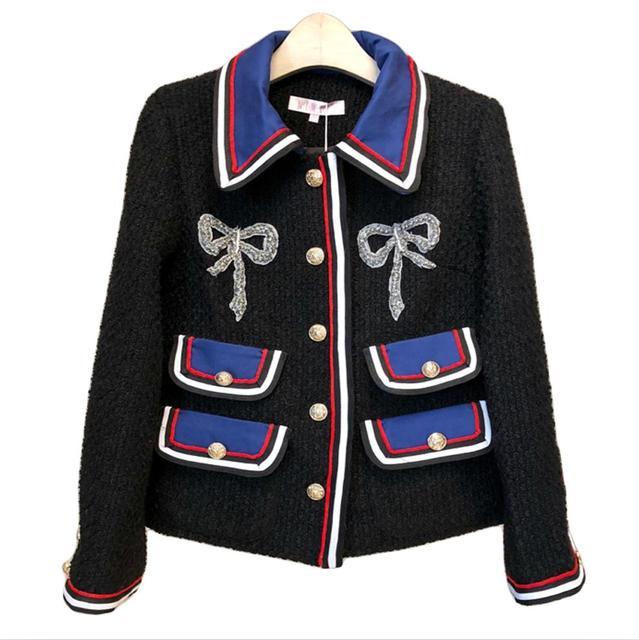 Woolen Coats Women Jackets 2017 Autumn Winter Chaqueta Mujer Patchwork Office Lady Fashion Elegant Long Sleeve Coats