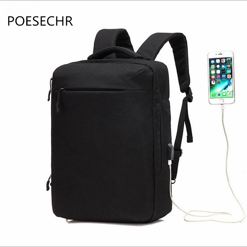 POESECHR Laptop Backpack for 16 inch Charging USB Port Computer - Backpacks