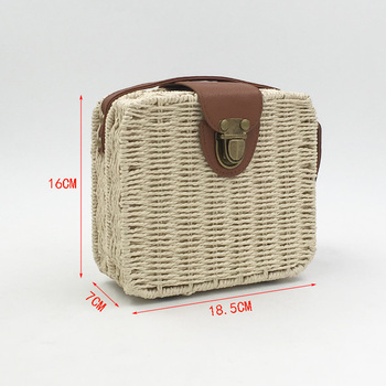REREKAXI Hand-woven Candy Color Women Straw Bag Ladies Small Shoulder Bags Bohemia Beach Bag Crossbody Bags Travel Handbag Tote
