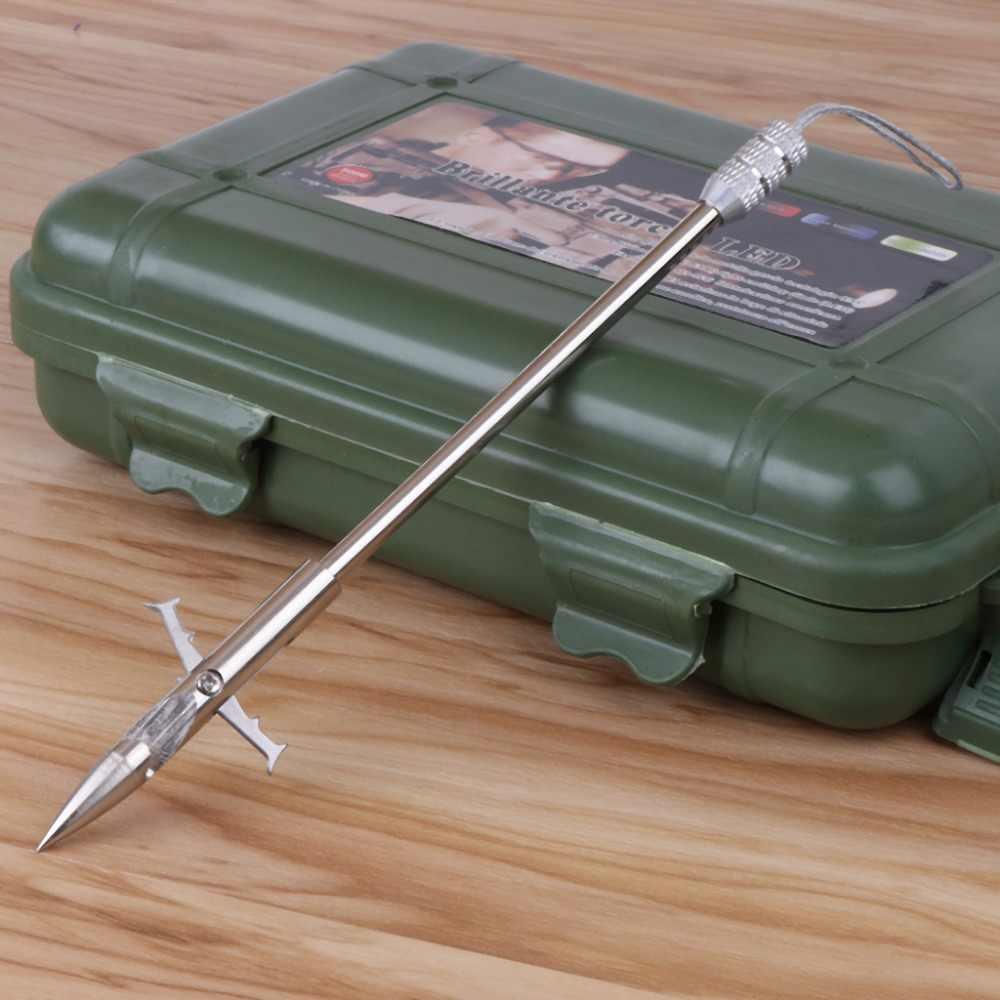 158mm de pesca broadhead seta aço inoxidável para estilingue arco tiro peixe dardo ponta