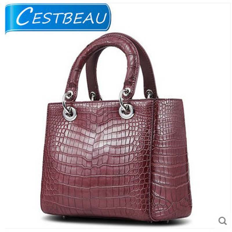 Cestbeau crocodile belly women handbag small habdbag natural texture crocodile genuine leather bag high end area selection belly belly bandit bamboo natural xl 127 145 см
