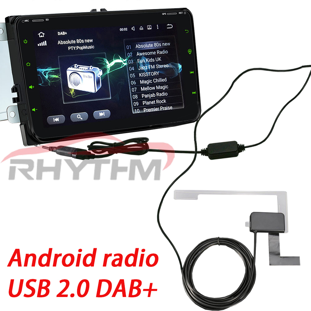 USB DAB Radio Tuner Receiver Stick For Android 2 din Car auto radio DVD Player Digital audio broadcasting dab tuner Only Europe