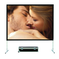 VIVICINE Fast Fold Screen 16:9 Portable 100 inch 150inch 200 inch 250 inch Quick Folding Projection Screen with Flight Case
