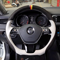 Hand-stitched Steering Wheel Cover for Volkswagen VW Golf 7 Mk7 New Polo Jetta Passat B8
