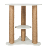 28 inch 440Lbs Nordic Style Solid Wooden Cat Climbing Tree Desk making desk legs binding rope for cat sharpen claw