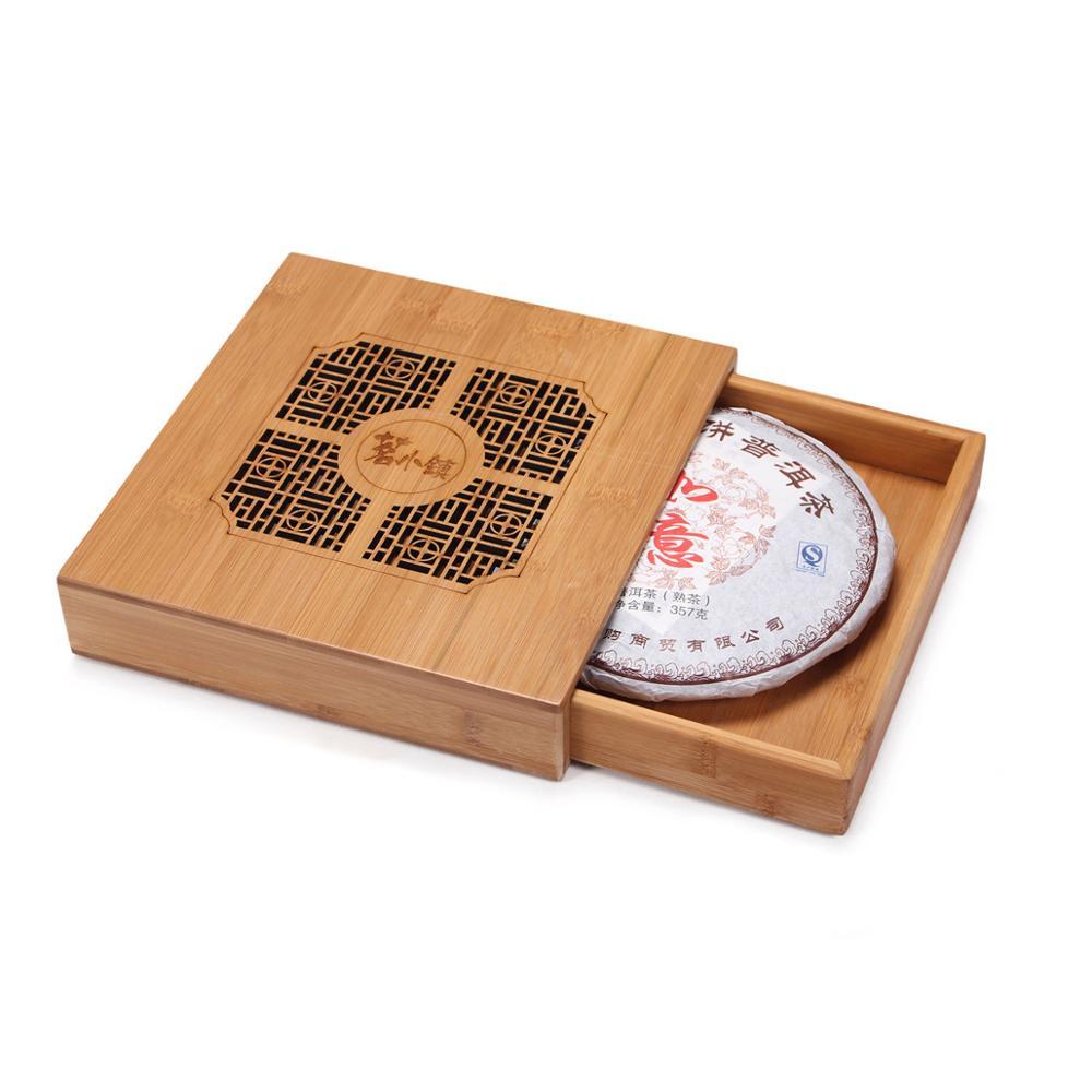 Safety and Environmental Protection Puer Tea Box Wood Natural Bamboo Tea Tray Kung Fu Set Tea Accessories