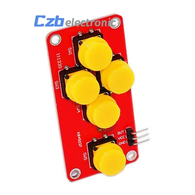 Ad Keyboard Electronic Blocks Simulate Five Key Module Analog Button For Arduino Tool Parts