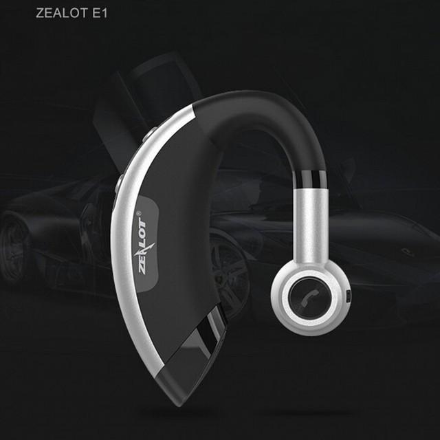 Zealot E1 motorista de carro handsfree Sem Fio bluetooth headset música fones de ouvido fones de ouvido fone de ouvido auriculares com microfone