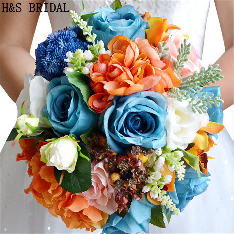 New Arrival Magical Forest Beautiful Colorful Bridal Bridesmaid Flower Wedding Bouquet Artificial Rose Bouquets In From
