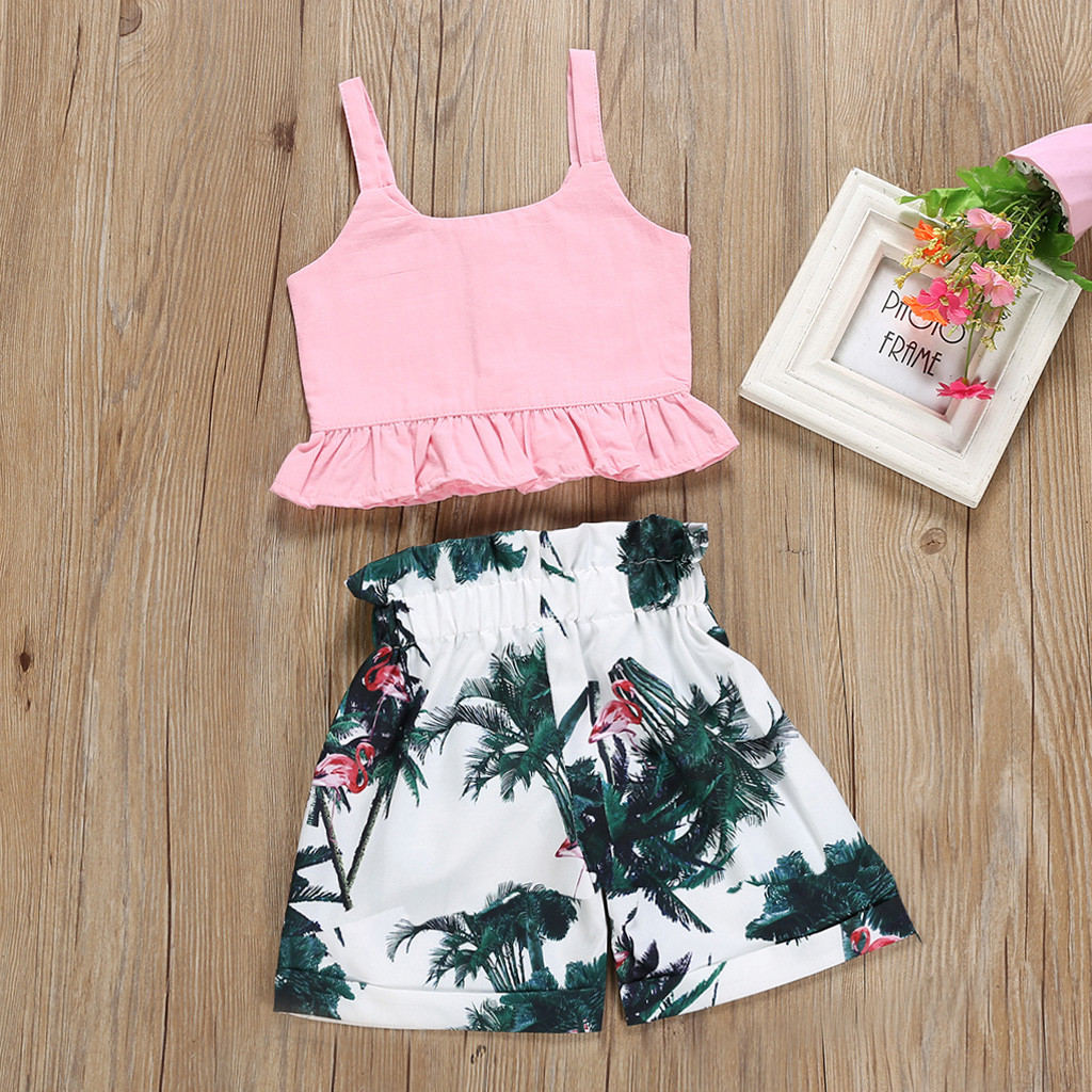 Smart 2018 Brand New Newborn Toddler Infant Baby Boy Girl Flower Beach Tops T-shirt Pants Shorts 2pcs Set Outfits Casual Clothes 0-18m Top Watermelons Mother & Kids