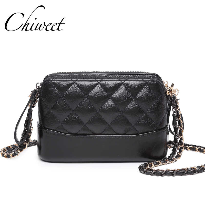 Designer High Quality Classic Quilted Crossbody Bag Brand Female Lady Chain Leather  Handbags Luxury Women Messenger d3d3cb3f9d36